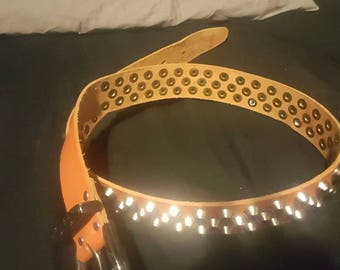 38 in leather studded belt