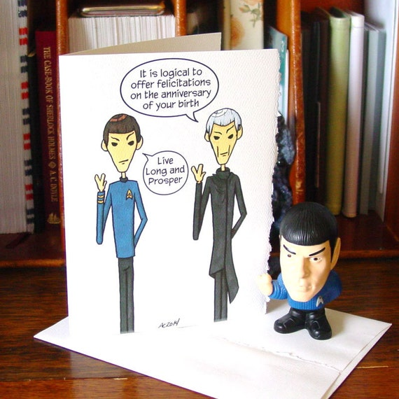 Spock birthday card live long and prosper star trek bookmarktalkfo Image collections