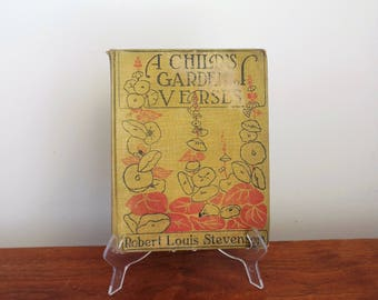A Child's Garden of Verses by Robert Louis Stevenson Copyright 1916 Illustrated Story Book Children's Poetry Book