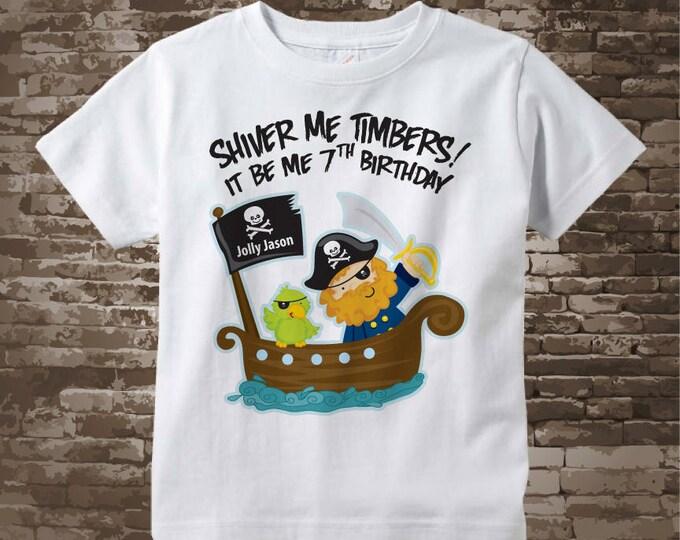 Seventh Birthday Pirate Shirt