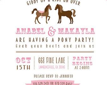 Pony Party Invitations