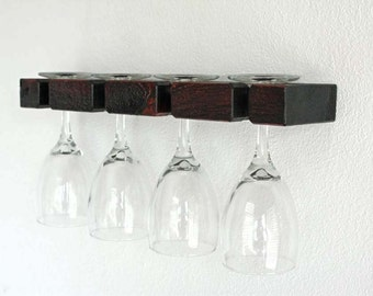 "16"" Rustic Wine Glass Rack 