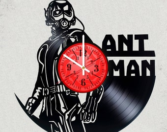 ANTMAN 12 inch / 30 cm ViNYL WALL ClOCK MOVIe Marvel GaMe wall clock gifts for men Ant-Man gift for kids USA Ant Man gifts for boys