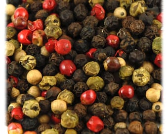 Rainbow Peppercorns 8 ounces   4 item mixed peppercorns Free Shipping