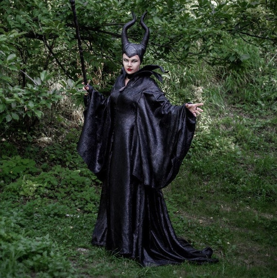 Adult Ship Stock Costume Sleeping Cosplay Ready Fantasy Maleficent to Cloak In Elven LARP Queen Vampire Evil Dress Beauty Disney OUtqZwn