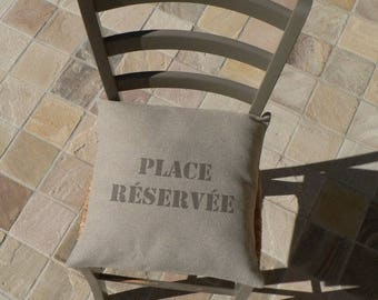 Cushion cover 40 x 40 cm - PLACE reserved cushion - cushion - Cushion cover - decorative pillow - sofa pillow - cushion Chair