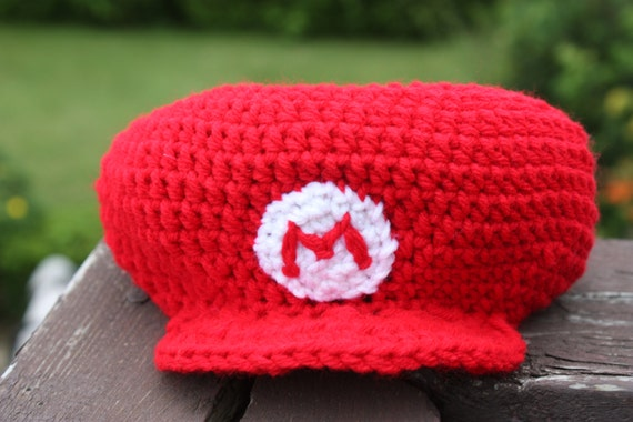Crochet Pattern Mario Hat Nb To Adult Sizes Pdf From