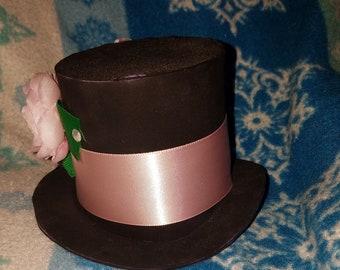 Black Foam Mini Top Hat