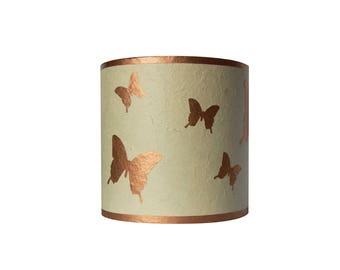 "Child lamp Applique girl ""copper butterflies"""