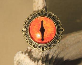 "round Adjustable ring ""dragon eye"" fantasy, steampunk, medieval"