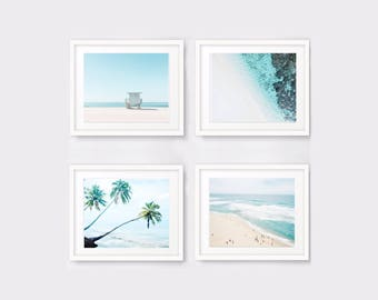 Nautical print set of 4 ocean photography, beach prints, beach decor nautical decor seascape printable wall art digital download digital art