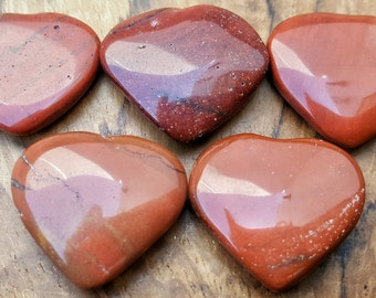 Red Jasper Crystal Heart  - Hand Carved Healing Heart  for Crystal Grids, Energy Work, Readings or Terrarium 198