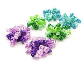 Pick 6 Mini Korker Bows, Satin Korker Clips, Baby Barrettes Toddler Girl Korker Clips Choose Color