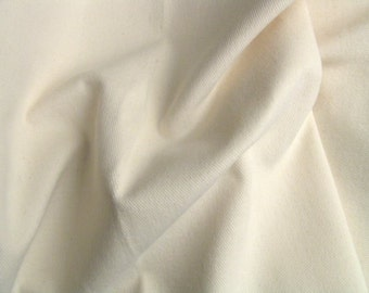 Soft Denim Twill Slipcover Upholstery Fabric Cotton Natural Cream Apparel Crafting