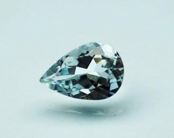 1.60 carat Natural Aquamarine faceted Pear cut - Aquamarine gemstone - Sky aquamarine