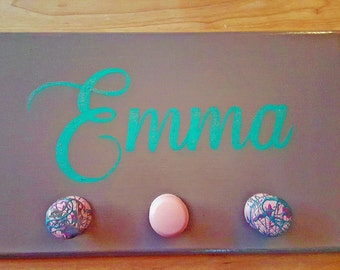 Kids name wall hanging personalized