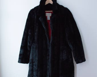 Black coat 80 synthetic hair