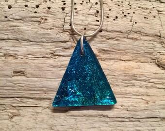 Dichroic glass pendant, glass, handmade, dichroic glass jewelry, dichroic glass, fused glass, handmade fused glass, glass jewelry