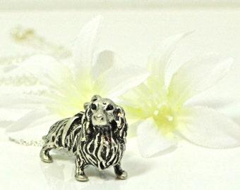 Dachshund Necklace Puppy Dog Pendant Presley - Doxie Necklace - Wienie Dog Pendant - Dog Lover Gift - Dachshund Jewelry - Doxie Pendant