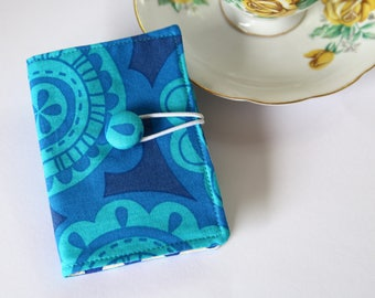 Tea Wallet, Tea Bag Wallet, Tea Bag Holder, Tea Organizer, Tea bag Caddy, Tea bag carrier, Tea Lover gift, Erin McMorris, Blue Polka Dots