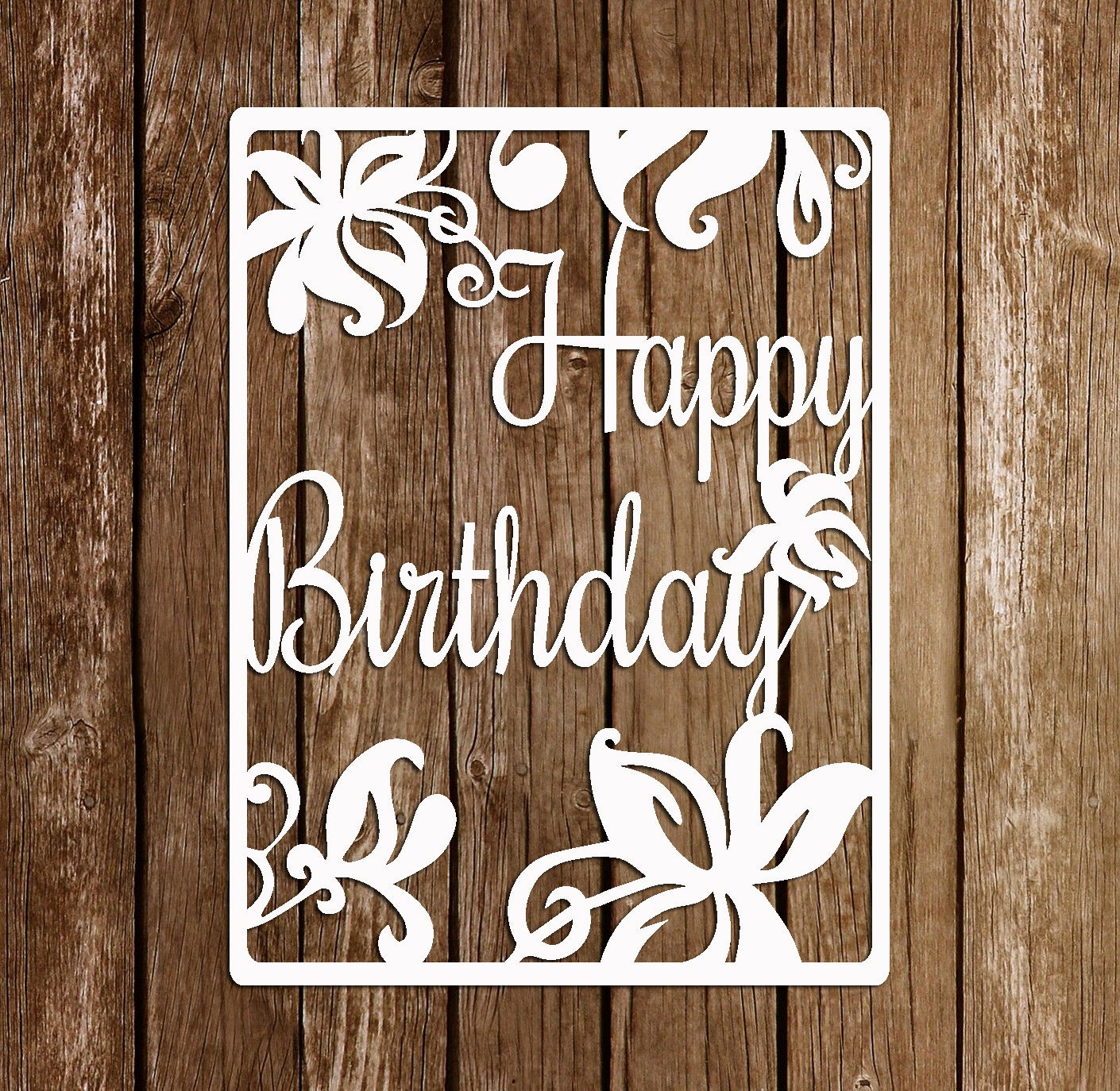 Download Paper Cutting Template Papercut Birthday template PDF SVG