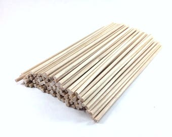 "100 ct 1/8"" x 6"" Natural Wood Thin Lollipop Sticks 