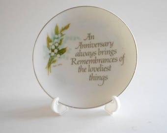 4 collectible set of two plate american greetings anniversary plate mini plate vintage 1976 white flowers lasting treasures 4 inch plate made in japan m4hsunfo