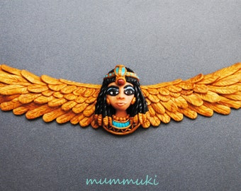 Polymer clay Cleopatra necklace