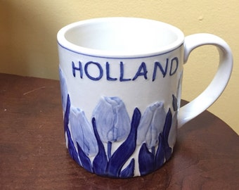 Delft Blue Tulip Mug - Holland