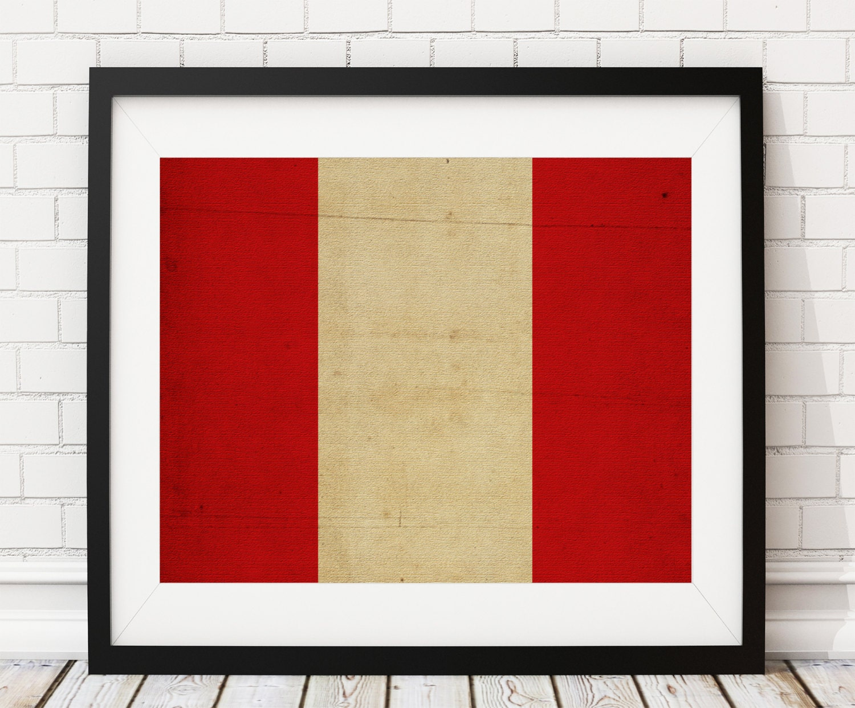Peru Flag Art, Peru Flag Print, Peruvian Flag Poster, Country Flags ...
