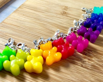 Small gummy bear polymer clay charms