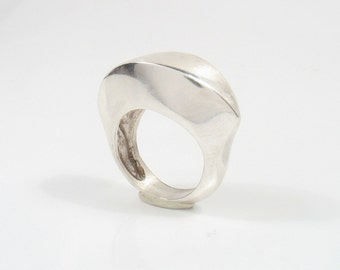 The Sculpture - sculpted sterling silver ring