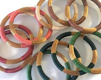 Stacking Bangles, Gold Bangles, Golden Grass,  handwoven bangles, colored bangles, Indian Bangles, organic bangles, lightweight
