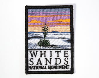 Official White Sands National Monument Souvenir Patch New Mexico Park Iron-on FREE SHIPPING Scrapbooking
