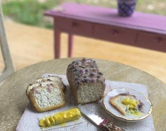 1:12 Miniature  Loaf Bread *Lavender Bread*