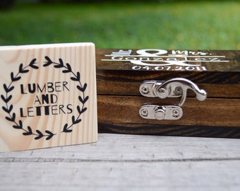 Add a latch to Lumber And Letters Ring Boxes or Wine Boxes