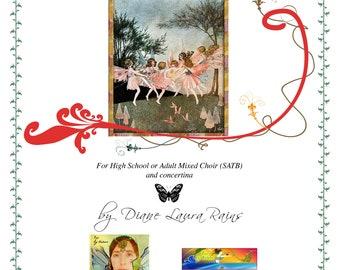 FAERIE FAE choral score ~ digital pdf + limited license to print (choose # of copies in Quantity menu below )