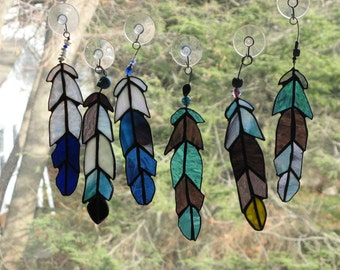 Indian Chief  Eagle Feather  stained glass Beads