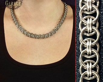 Necklace - Helm - Stainless Steel - Lightweight!