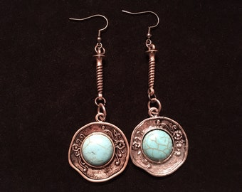 Southwestern Turquoise and Silver earrings