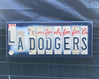 Dodgers License Plate Sign