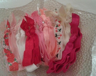 20 Emi Jay Inspired LARGE Valentine's Day Hair Ties! V-Day favors, Weddings!