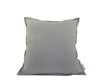 Light Grey Large Linen Fabric Cushion Cover | Free UK Delivery