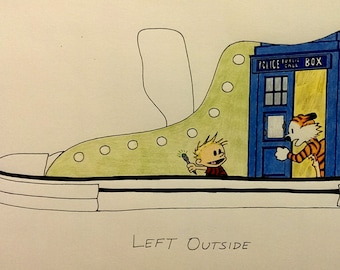 Calvin and Bobbes / Doctor Who Mashup Shoes