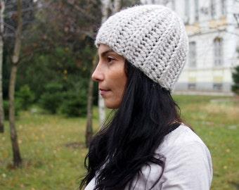 Crochet Pattern bulky woman basic hat women beanie knit look winter , DIY photo tutorial, Instant download