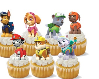 24 Paw Patrol Cupcake Toppers