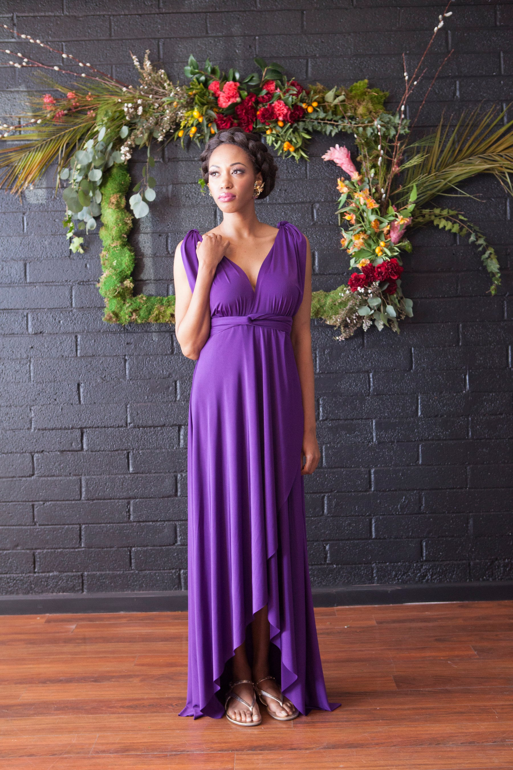 Stardust Royal Purple- Tulip Cut Long Maxi Dress -Octopus Infinity ...