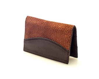 Natural leather credit card wallet , Business card case
