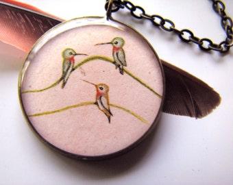 3 Hummingbirds Necklace