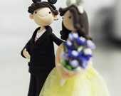 Couple Wearing Mickey Ears Cake Topper